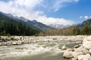 Himachal - river Beas, Kullu Valley